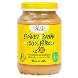 BIO Őszibarackos, banános bébipüré 190 g