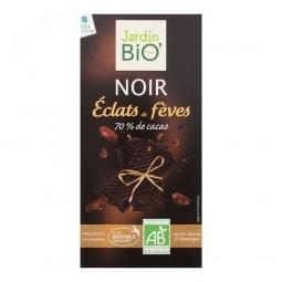 Étcsokoládé kakaóbab darabokkal, 100 g, BIO