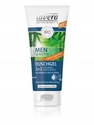 3 az 1-ben frissítő haj- és testsampon férfiaknak