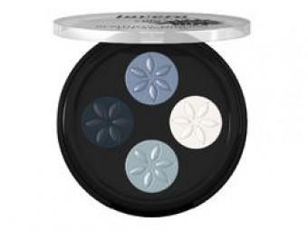 Lavera ásványi szemhéjpúderek Quattro 7 kék platina