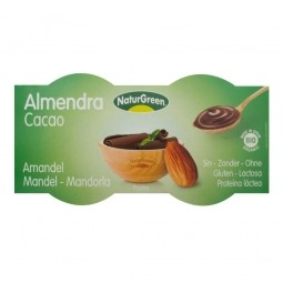 Mandulás desszert csokoládéval, 2x125 g, BIO