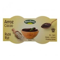 Rizses desszert csokoládés ízzel, 2x125 g, BIO