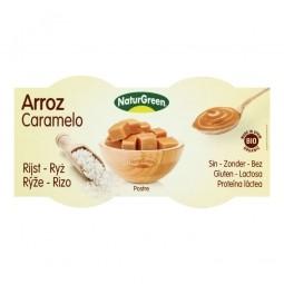 Rizses desszert karamellás ízzel, 2x125 g, BIO