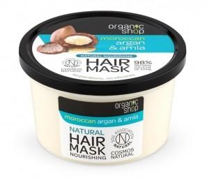 Organic Shop - Marokkói argánolaj és amla - Tápláló hajpakolás, 250 ml