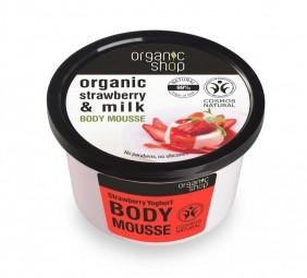 Organic Shop - Szamóca & Joghurt - Testápoló hab, 250 ml