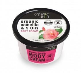 Organic Shop - Japán kamélia - Testápoló krém, 250 ml