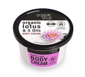 Organic Shop - Indiai lótusz - testápoló krém, 250 ml