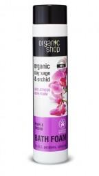 Organic Shop  - Zsálya és orchidea - Antistressz hatású fürdőhab, 500 ml