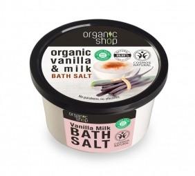 Organic Shop - Vanília és tej - Fürdősó, 250 ml