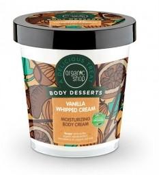 Organic Shop - Hidratáló testápoló krém - Vaníliás tejszínhab, 450 ml