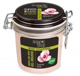 Organi Shop - Trópusi rózsa - Formázó testápoló, zselés hab, 350 ml