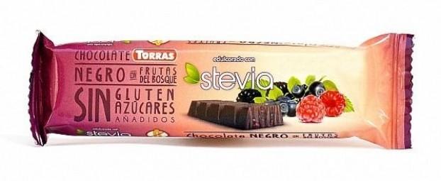 Étcsokoládé szelet erdei gyümölcsökkel, 35 g