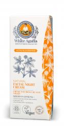 White Agafia - Aktív megfiatalodás - Éjszakai arckrém, 50 ml