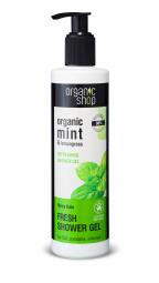 Organic Shop - Mentás eső - Tusoló gél, 280 ml
