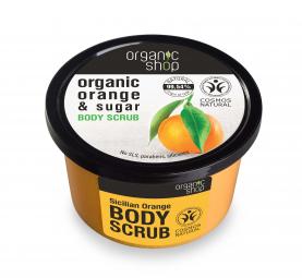Organic Shop - Szicíliai narancs - Testradír, 250 ml