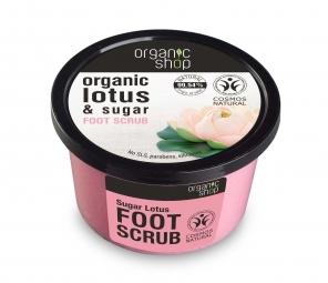 Organic Shop - Lótusz és cukor, Bőrradír lábra, 250 ml