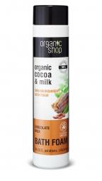 Organic Shop - Tápláló fürdőhab, Csokoládés tej, 500 ml