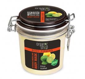 Organic Shop - Citromos koktél - Intenzív formázó testpakolás, 350 ml