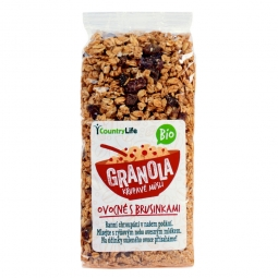 Granola - Ropogós müzli, gyümölcsös, vörösáfonyával, 350 g, BIO