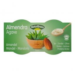 Mandulás desszert agavé sziruppal, 2x125 g, BIO