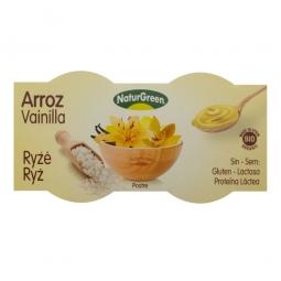 Rizses desszert vaníliás ízzel, 2x125 g, BIO