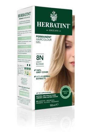 HERBATINT tartós hajfesték - világosszőke 8N