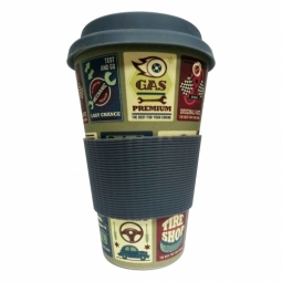 Eco Bamboo Cup - Cars (verdák), szürke