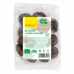 Banán keserű csokoládéban BIO 150 g Wolfberry *