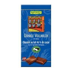 Csokoládé, kesernyés-tejes, BIO, 100 g, Rapunzel *