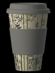 Eco Bamboo Cup - Panda (szürke)