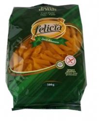 Kukorica száraztészta, PENNE RIGATE, gluténmentes, 500 g