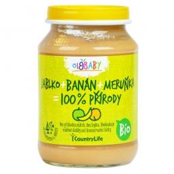 BIO Almás, banános, barackos bébipüré 190 g