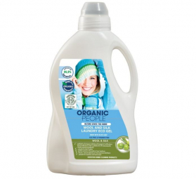 Környezetbarát mosógél pamutra és selyemre