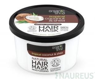 Organic Shop - Kókusz & Shea - Hajpakolás, 250 ml