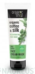 Organic Shop - Kávé és sheavaj - Fiatalító arcpakolás, 75 ml