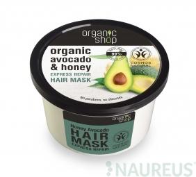 Organic Shop - Méz & Avokádó - Hajpakolás, 250 ml