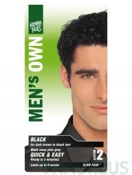 Henna Plus Természetes hajfesték férfiaknak Fekete