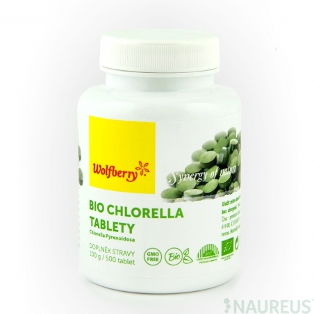 Chlorella BIO 100 g 500 tabletta Wolfberry *