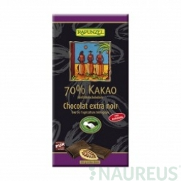 Étcsokoládé, 70%, BIO, 80 g, Rapunzel *