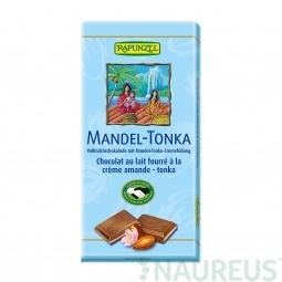 Tejcsokoládé mandula-tonka töltelékkel BIO 100 g Rapunzel *
