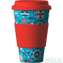 Eco Bamboo Cup - Sea Red (tenger) - piros