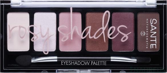Ásványi szemhéjpúderek, Palette rosy shades, 6 g