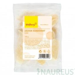 Kandírozott szeletelt gyömbér, 100 g, Wolfberry