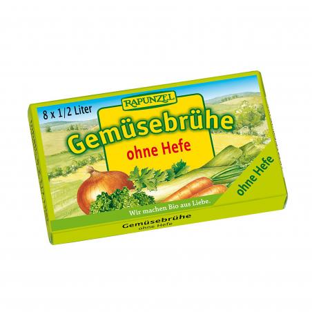 Zöldségleves kocka, élesztőmentes, BIO, 8 db, Rapunzel *