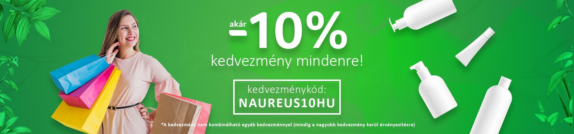 10% kedvezmény mindenre