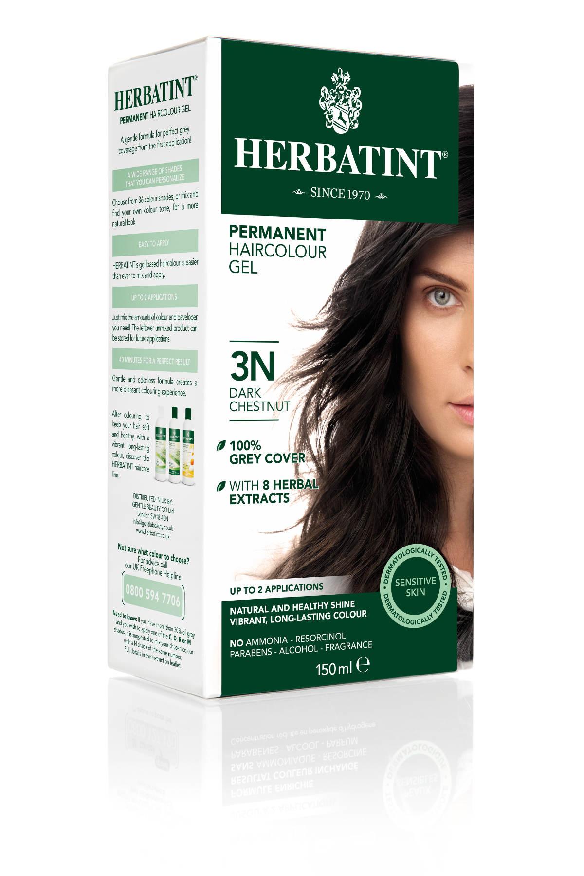HERBATINT tartós hajfesték - sötét gesztenyebarna 3N