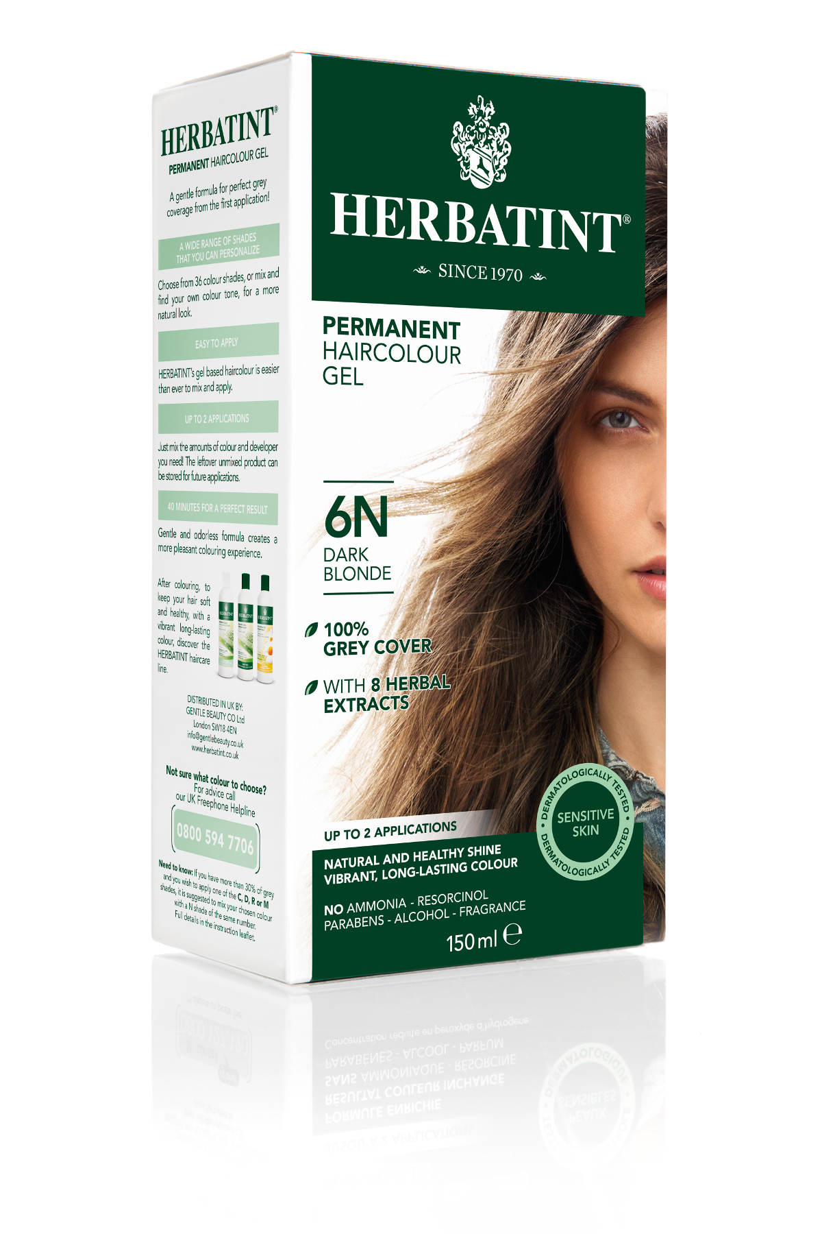 HERBATINT 6N sötétszőke tartós hajfesték