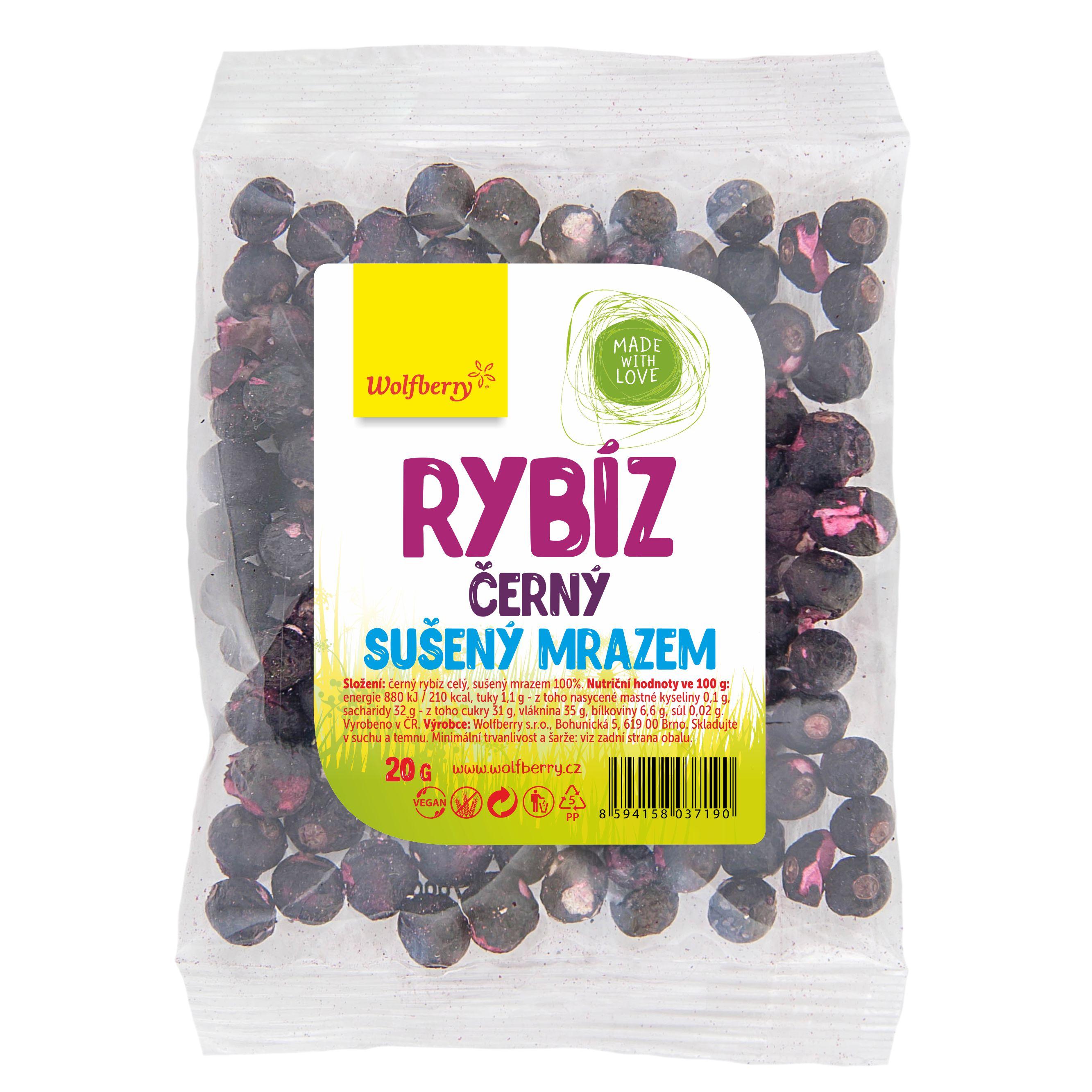 Fekete ribizli, liofilezett, 20 g, Wolfberry