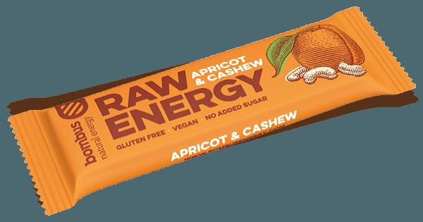 Bombus RAW ENERGY sárgabarack-kesudió szelet 50g