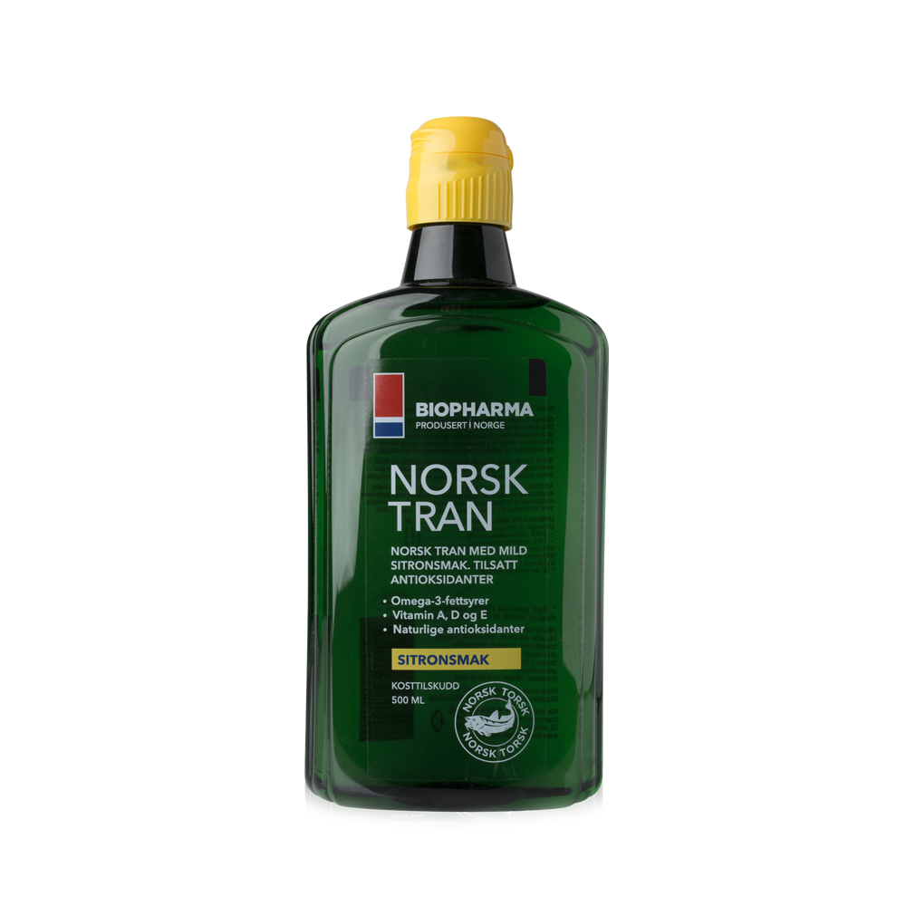 Halolaj - NORSK TRAN - természetes citrom ízű - 500 ml